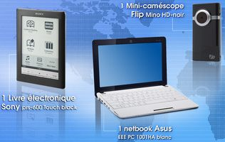 Gagnez un livre électronique, un netbook ...