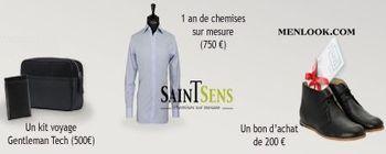 Gagnez un lot d'un an de chemises Saint-Sens