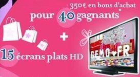 Gagner des TV LCD et des bons d'achat Gémo de 350 €