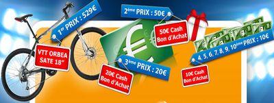 Gagnez un VTT Orbea ou un bon d'achat de 10 à 50 €