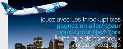 Gagnez un lot de 2 billets A/R Paris/New York