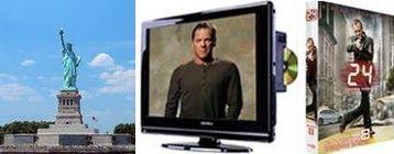 Gagnez un séjour à New York, une TV LCD avec lecteur DVD